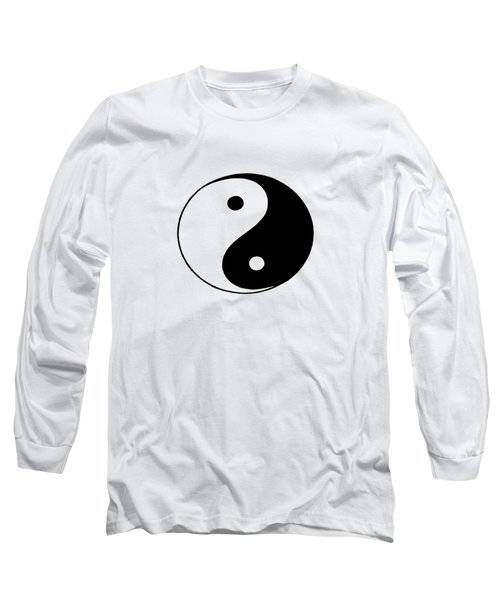 Yin And Yang Long Sleeve T-Shirt by Pat Cook