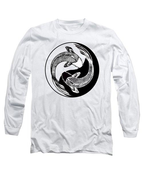 Yin Yang Fish Long Sleeve T-Shirt by Stephen Humphries