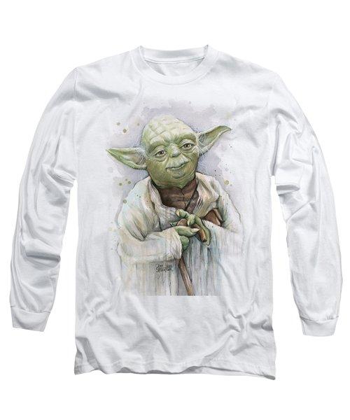Yoda Long Sleeve T-Shirt by Olga Shvartsur