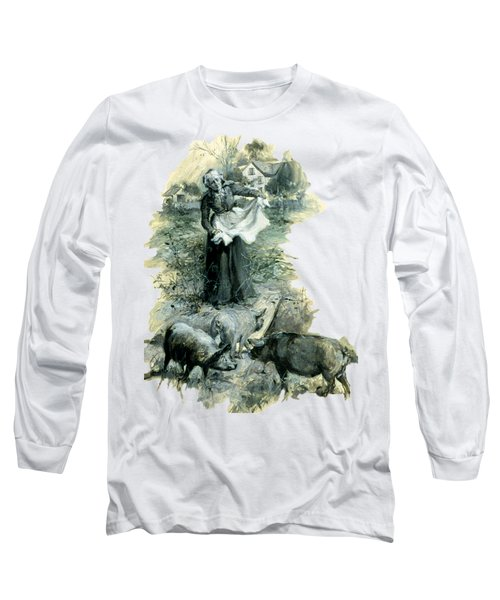 Long Sleeve T-Shirt featuring the photograph Yohn Pigs  by Robert G Kernodle