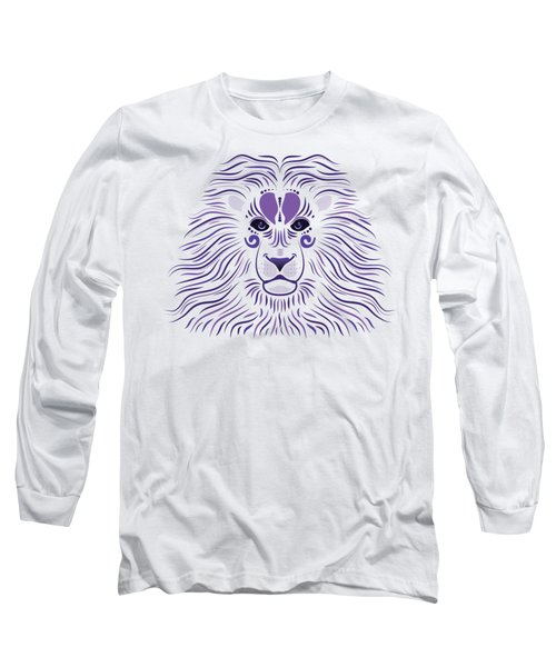 Yoni The Lion - Light Long Sleeve T-Shirt by Serena King