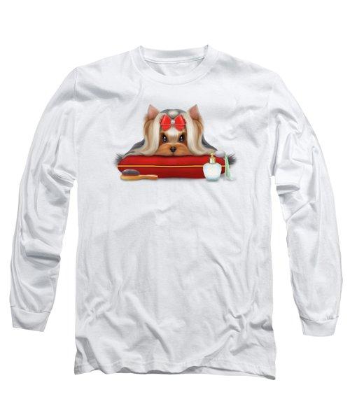 Yorkie Beauty Long Sleeve T-Shirt by Catia Cho