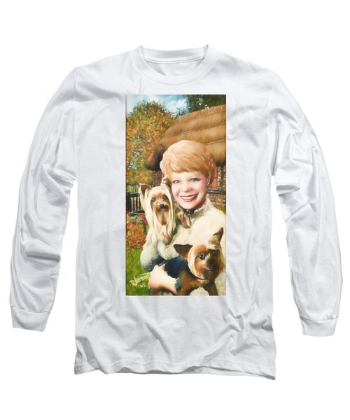 Yorkshire Lady Long Sleeve T-Shirt by Dave Luebbert