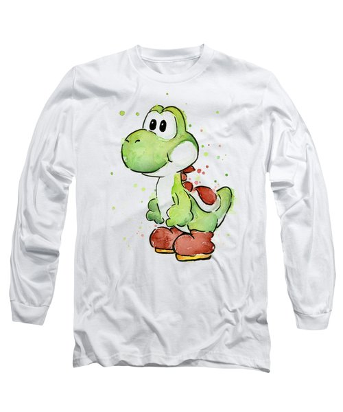 Yoshi Watercolor Long Sleeve T-Shirt by Olga Shvartsur