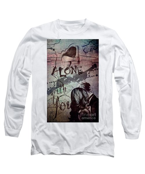Long Sleeve T-Shirt featuring the mixed media You by Mo T