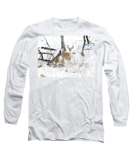 Young Doe And Spring Snow Long Sleeve T-Shirt