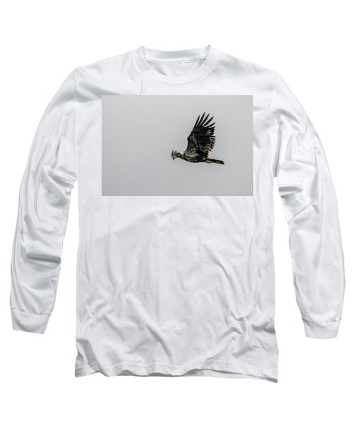 Long Sleeve T-Shirt featuring the photograph Young Eagle In Flight 07 by Timothy Latta