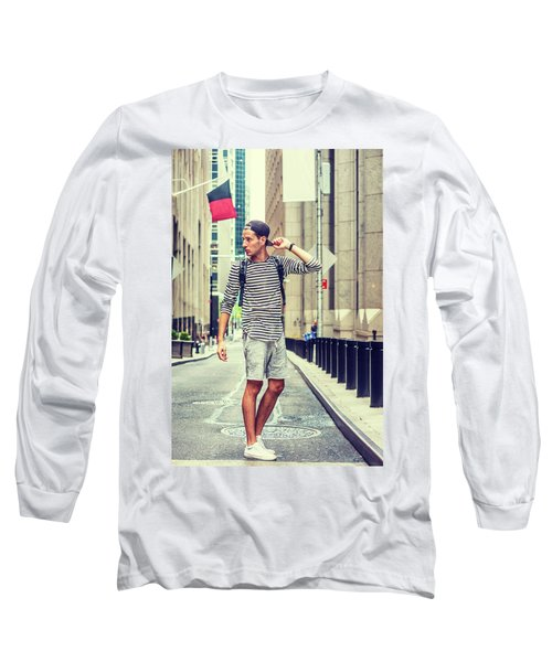 Young Russian Man Traveling In New York Long Sleeve T-Shirt