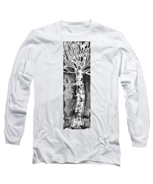 Long Sleeve T-Shirt featuring the painting Youth by Carol Rashawnna Williams