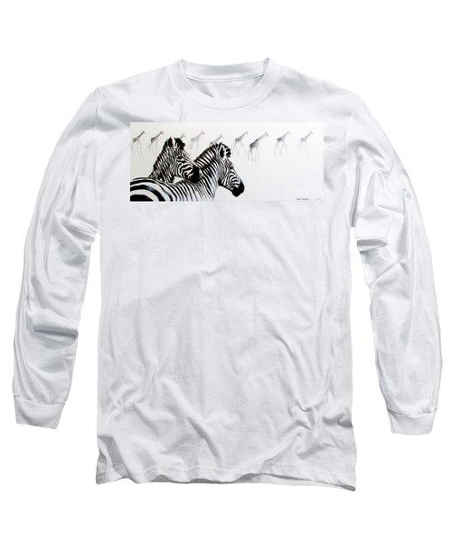 Zebra And Giraffe Long Sleeve T-Shirt