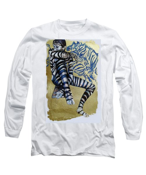Zebra Boy The Lost Gold Drawing  Long Sleeve T-Shirt