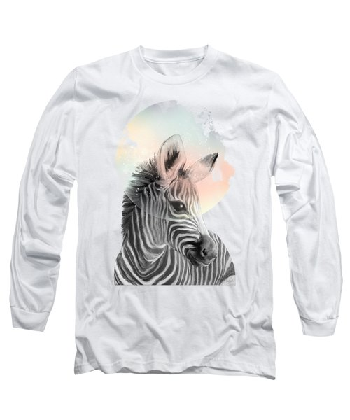 Zebra // Dreaming Long Sleeve T-Shirt by Amy Hamilton