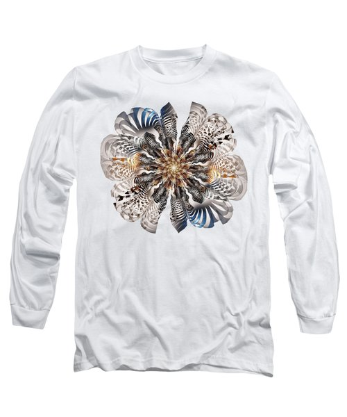 Zebra Flower Long Sleeve T-Shirt by Anastasiya Malakhova