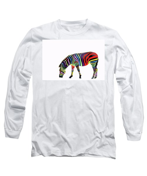 Zebra In My Dreams Long Sleeve T-Shirt by Bonnie Barry