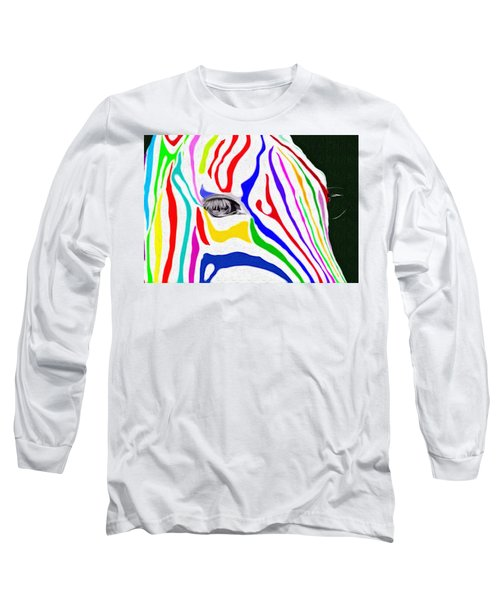 Zebra Nothing Is Black And White Long Sleeve T-Shirt