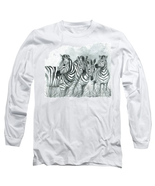 Zebra Quartet Long Sleeve T-Shirt