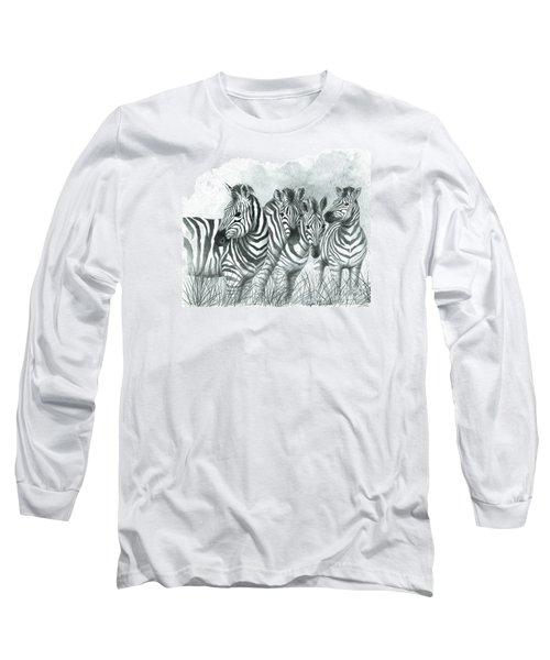 Zebra Quartet Long Sleeve T-Shirt