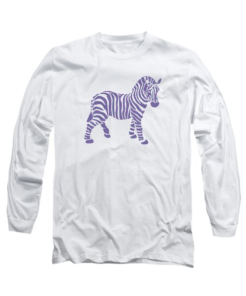 Zebra Stripes Pattern Long Sleeve T-Shirt by Christina Rollo