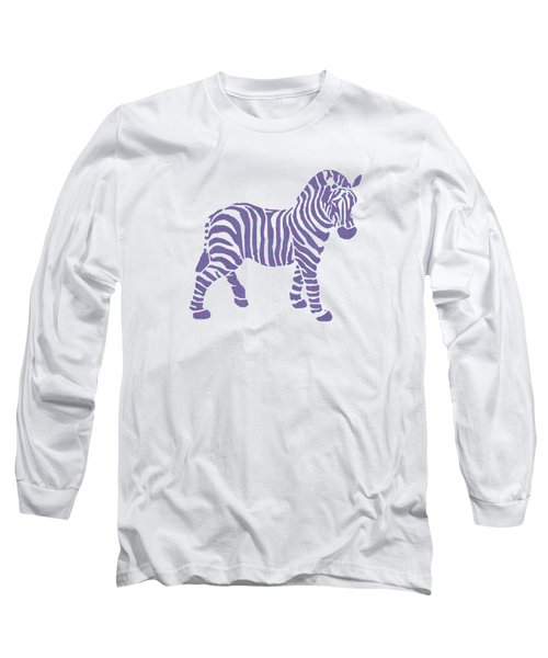 Zebra Stripes Pattern Long Sleeve T-Shirt