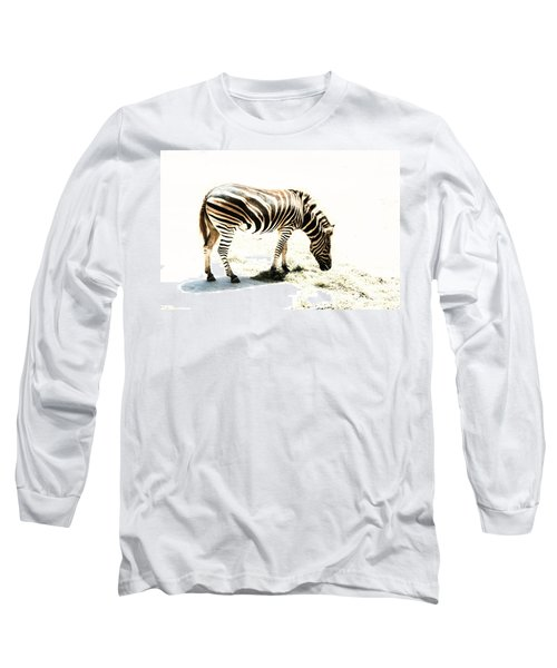 Long Sleeve T-Shirt featuring the photograph Zebra Stripes by Stephen Mitchell