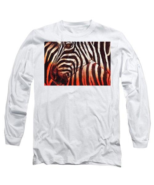 Zebra Sunset Long Sleeve T-Shirt