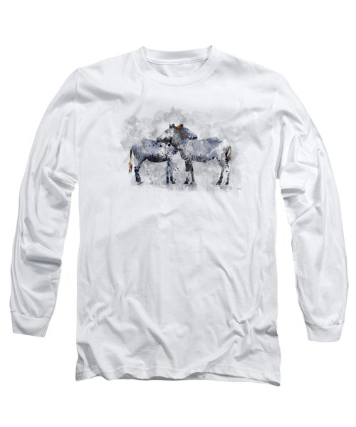 Zebras Long Sleeve T-Shirt by Marlene Watson