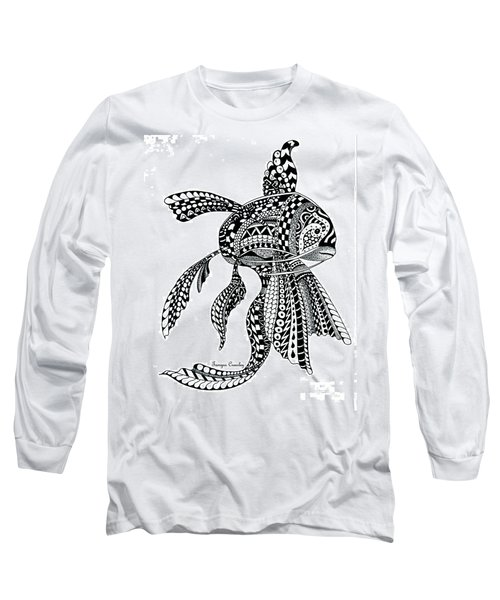 Zen Goldfish Long Sleeve T-Shirt by Tamyra Crossley