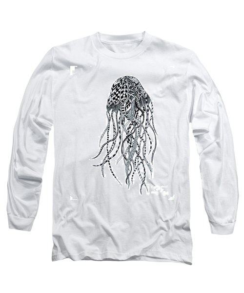 Zen Jellyfish Long Sleeve T-Shirt by Tamyra Crossley
