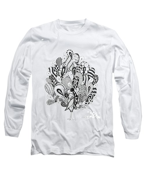 Zen Peacock Long Sleeve T-Shirt