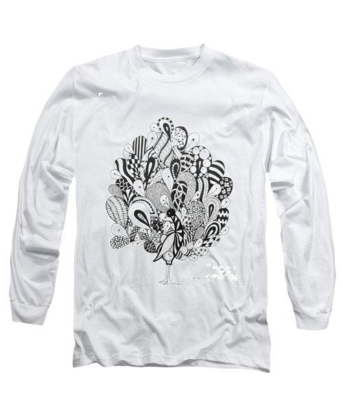 Zen Peacock Long Sleeve T-Shirt