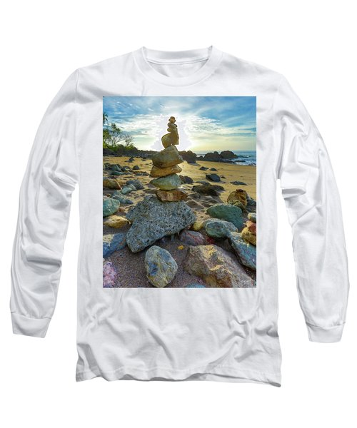 Zen Rock Balance Long Sleeve T-Shirt