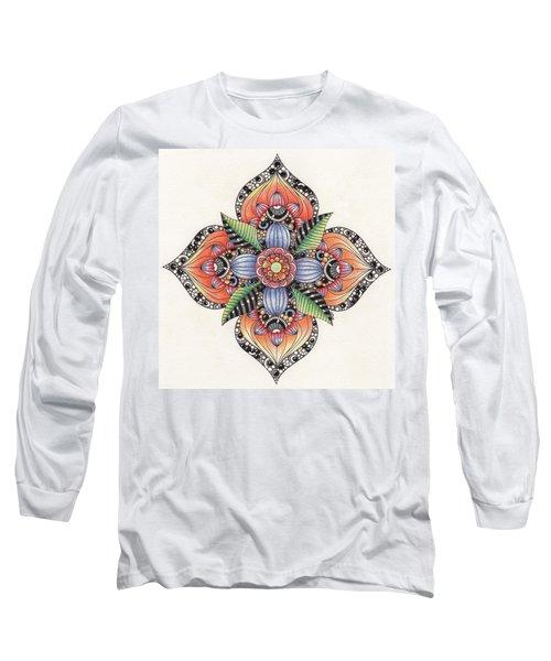 Zendala Template #1 Long Sleeve T-Shirt
