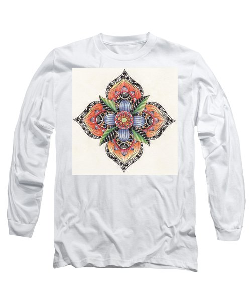 Zendala Template #1 Long Sleeve T-Shirt