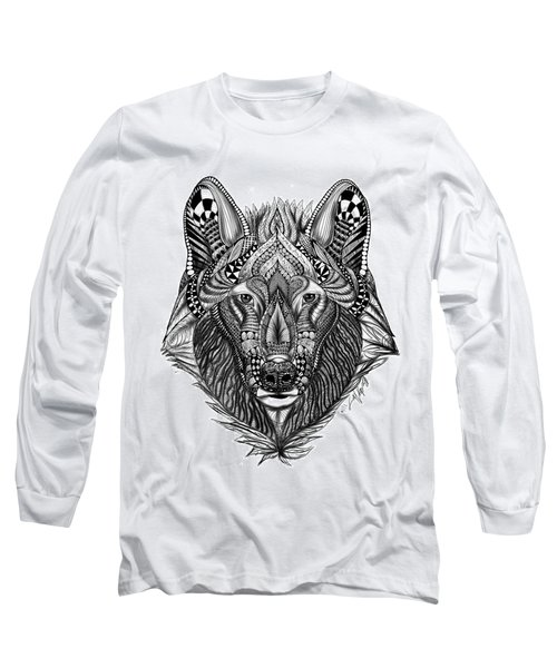 Zendoodle Wolf Long Sleeve T-Shirt