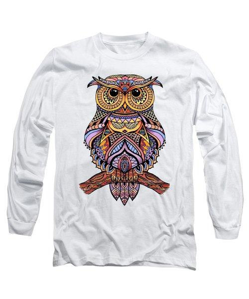 Zentangle Owl Long Sleeve T-Shirt