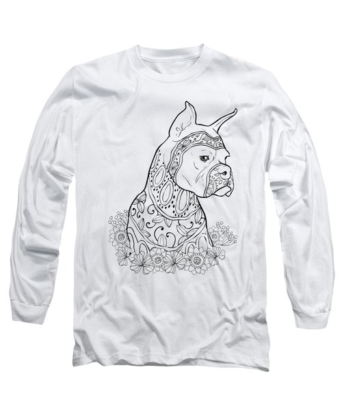 Zentangle Boxer Long Sleeve T-Shirt
