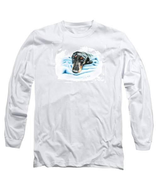 Long Sleeve T-Shirt featuring the drawing Zeus by Mike Ivey