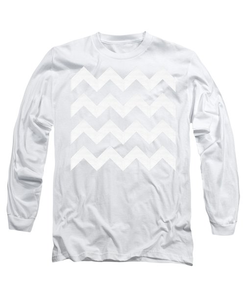 Zig Zag - White - Transparent Long Sleeve T-Shirt