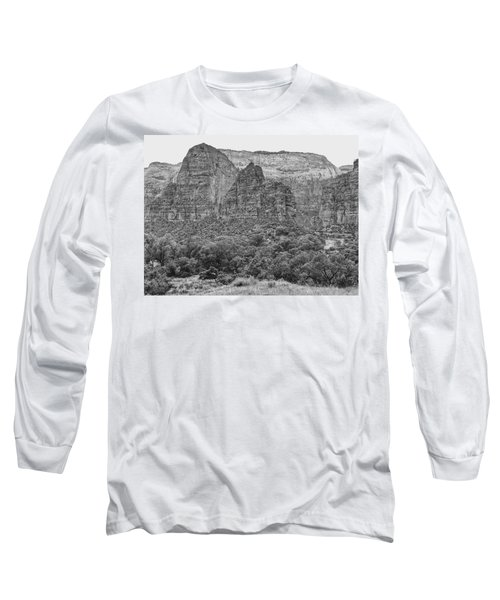 Zion Canyon Monochrome Long Sleeve T-Shirt