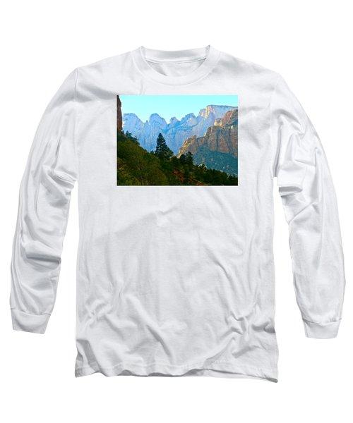 Zion's Hint Of Blue Long Sleeve T-Shirt