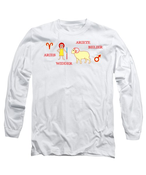 Zodiac Sign Aries Long Sleeve T-Shirt