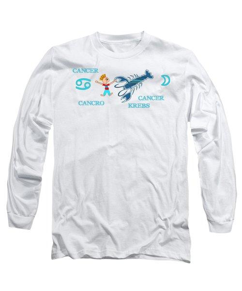 Zodiac Sign Cancer Long Sleeve T-Shirt