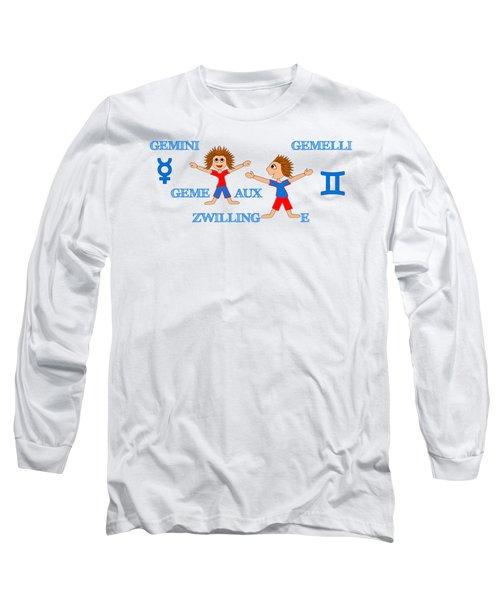 Zodiac Sign Gemini Long Sleeve T-Shirt