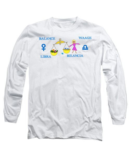 Zodiac Sign Libra Long Sleeve T-Shirt