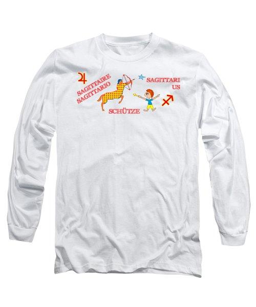 Zodiac Sign Sagittarius Long Sleeve T-Shirt by Gabriele Pomykaj
