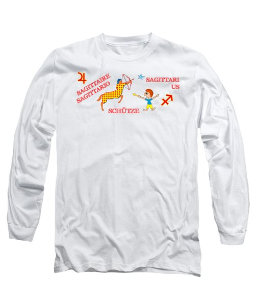 Zodiac Sign Sagittarius Long Sleeve T-Shirt