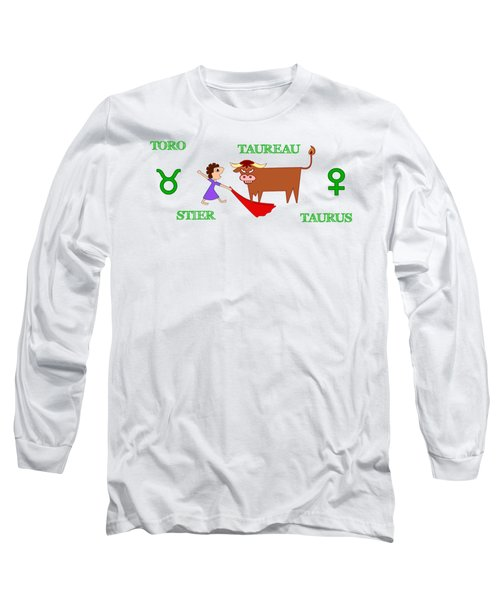 Zodiac Sign Taurus Long Sleeve T-Shirt