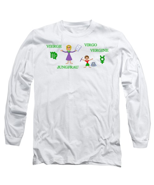 Zodiac Sign Virgo Long Sleeve T-Shirt