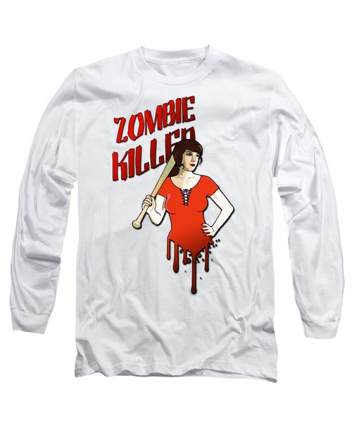 Zombie Killer Long Sleeve T-Shirt by Nicklas Gustafsson