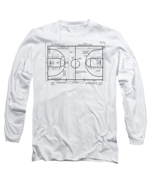 Basketball Court Long Sleeve T-Shirt